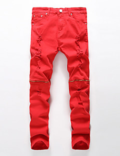 Women's Solid Red / White / Black / Gray Jeans / Chinos Pants,Simple Spring / Fall