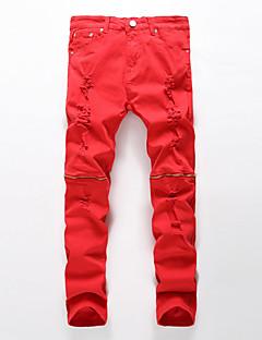 Damen Hose - Einfach Jeans / Chinos Baumwolle Dehnbar