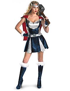 Cosplay Kostumer Super Helte Film Cosplay Sølv Ensfarvet Kjole / Sjal / Handsker / Hovedtøj Halloween / Karneval Kvindelig Polyester