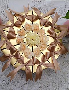 10 Stykke/Sæt Favor Holder-Pyramide Perle-papir Yndlingsæsker