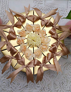 10 Stuk/Set Gunst Holder-Piramide Parel Papier Bedank Doosjes