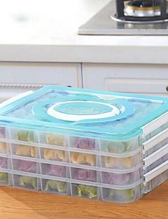 1pc willekeurige kleur van de bescherming van het milieu de koelkast alimental behoud van de dumplings opbergbox