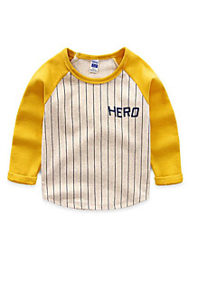 Boy's Casual/Daily Striped TeeCotton Spring / Fall Black / Yellow