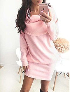Women's Casual/Daily / Club / Holiday Sexy / Simple / Street chic Bodycon / Shift / Sheath Dress,Striped Off Shoulder Above KneeLong