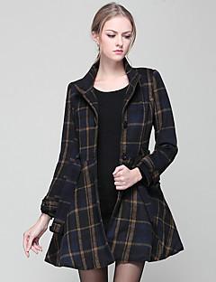 Damen Verziert Einfach / Street Schick / Anspruchsvoll Ausgehen / Lässig/Alltäglich / Party/Cocktail Mantel,Alle Saisons / Winter