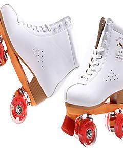 Roller Skates Unisex Rutschfest Wasserdicht Innen im Freien Training Klassisch Echtes Leder Gummi Freizeit Sport Roller Skating