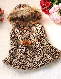 Kız Çocuk Günlük/Sade Pamuklu Mat Siyah Kış Uzun Kol Şişme ve Pamuk Pedli
