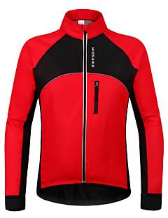 Wosawe® Cyklo bunda Unisex Dlouhé rukávy Jezdit na kole Voděodolný / Zahřívací / Větruvzdorné / Zateplená podšívka / Zadní kapsaMikina /