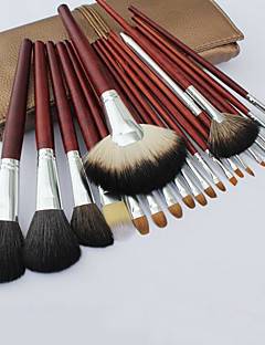21 Makeup Brushes Set Mink Hair Professional / Travel / Full Coverage / Portable Wood Face / Eye / Lip Others
