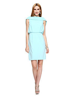 TS Couture® Prom  Cocktail Party Dress - Ivanka Style / Celebrity Style Sheath / Column Bateau Short / Mini Polyester with Draping
