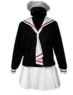 קיבל השראה מ Cardcaptor Sakura קוספליי אנימה תחפושות קוספליי חליפות קוספליי אחיד חולצת טי / חצאית / שמלה / כובע / עניבה