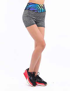 ריצה לנשים נושם / נוח פוליאסטר ספורטיבי מתיחה צמוד בבית / בגדי שטח / הצגה / אימון / ספורט פנאי / בגדי ספורט ומנוחה / לבוש אקטיבי חאקי בהיר