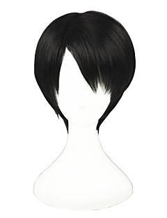 Shingeki no Kyojin-Rivaille Dark Brown 12inch Cosplay Wig CS-084A