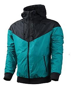 לגברים שרוול ארוך ריצה ג'קט סווטשירט נושם עמיד נוח אביב סתיו בגדי ספורט ספורט פנאי ריצה רזה לבן ירוק Taivaan sininen טלאים