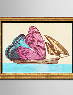 E-HOME® Framed Canvas Art The Butterfly Sailing  Framed Canvas Print One Pcs