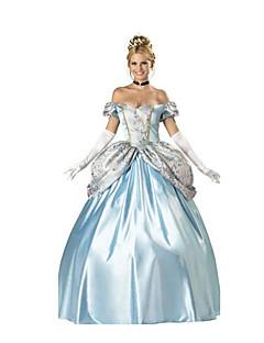 Cosplay Kostüme Prinzessin Märchen Fest/Feiertage Halloween Kostüme Hellblau einfarbig Rock Kopfbedeckung Halloween Karneval Frau