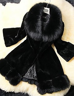 Women's Faux Fox Fur Parka Winter Fur Coat