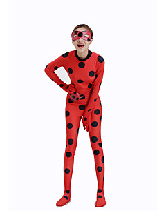 Patterned Zentai Suits / Party Costume / Masquerade Animal Zentai Cosplay Costumes Red Polka Dot / PrintLeotard/Onesie / Bags and Purses