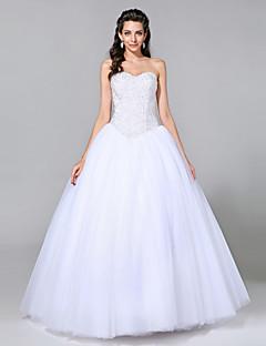 LAN TING BRIDE Da ballo Vestito da sposa - Classico Look luminoso e scintillante Lungo A cuore Tulle con Perline