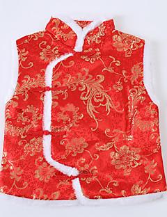 Girl Party/Cocktail Print Vest,Nylon Winter / Fall Sleeveless Short