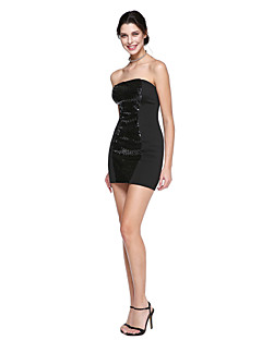 TS Couture® Prom  Cocktail Party Dress Sheath / Column Strapless Short / Mini Sequined with Sequins