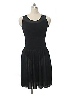 בלט שמלות בגדי ריקוד נשים / בגדי ריקוד ילדים ביצועים כותנה / לייקרה חלק 1 בלי שרוולים שמלות / Leotard