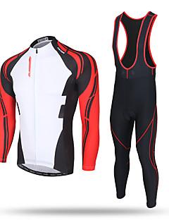 XINTOWN® Camisa com Calça Bretelle Homens Manga Comprida MotoMantenha Quente / A Prova de Vento / Permeável á Humidade / Zíper Frontal /