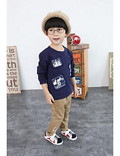 Boy Casual/Daily Solid Tee,Cotton All Seasons Regular