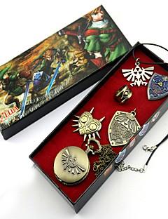 Relógio / Crachá / Mais Acessórios Inspirado por The Legend of Zelda Link Anime Acessórios de Cosplay Colares / Crachá / RelógioPreto /