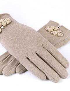 Damer Afslappet Håndledslængde Fingerspidser,Uld Vinter Solid