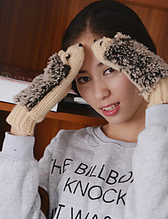 женские трикотажные изделия Еж пальцев длина запястья милые зимние перчатки