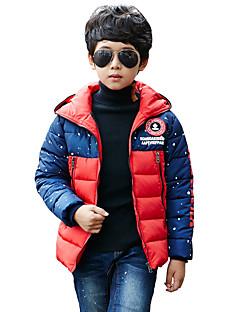 Dreng dun- og bomuldsforet Casual/hverdag Trykt mønster,Polyester Vinter Langærmet Normal