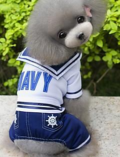 Собаки Костюмы Комбинезоны Белый Одежда для собак Зима Весна/осень Морской Мода Косплей