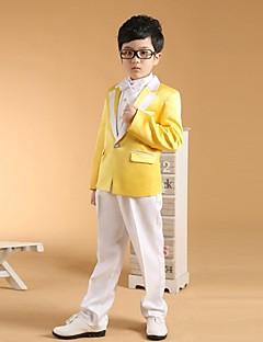 Хлопок Детский праздничный костюм - 6 Куски Включает в себя Жакет / Рубашка / Жилет / Брюки / Галстук-бабочка