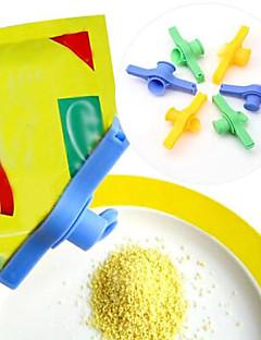 Saco de selagem de sal de açúcar bolsa de descarga de fixação tubo de comida clipe selado fecho de correr com saída