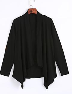 Alkalmi Casual/hétköznapi Egyszerű Utcai sikk Csuklya-Női kimono Jacket,Egyszínű Tavaszi Ősz Hosszú ujjú Hosszú Poliészter