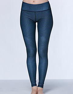 calças de yoga Calças Compressão Alto Elasticidade Alta Moda Esportiva Azul Escuro Mulheres Ioga