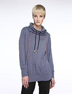 Langærmet Kvinders Hverdag Hættetrøjer Medium Bomuld / Polyester