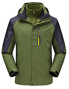 Hiking Coveralls Tracksuit Women's Men's Waterproof Thermal / Warm Windproof Fleece Lining Spring Fall/Autumn Winter TeryleneYellow Green