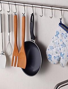 chuyuwuxian® roestvrijstalen keuken 24inch opknoping staaf met 8 haken
