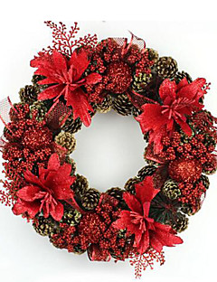 Prázdninové šperky Červená PVC Cosplay doplňky Vánoce
