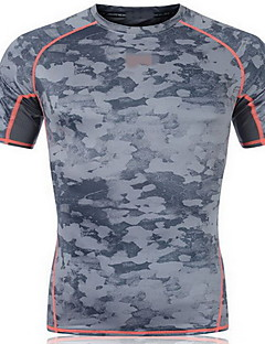 Men's Short Sleeve Running Sweatshirt Breathable Quick Dry Sweat-wicking Spring Summer Fall/Autumn Sports WearExercise & Fitness Racing