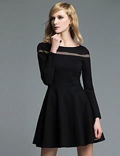 JoanneKitten Women's Casual / Daily / Formal / Work Vintage / Simple / Sophisticated A Line / Little Black Dress Solid Round Neck Knee-length