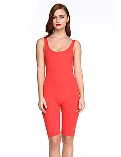 婦人向け シンプル / 活発的 ポリエステル ジャンプスーツ,マイクロエラスティック ミディアム ノースリーブ