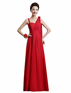 Ankle-length Chiffon Mix & Match Sets Bridesmaid Dress - A-line One Shoulder with