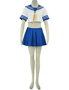 Inspirerad av Cosplay Cosplay Animé Cosplay Kostymer/Dräkter cosplay Suits Enfärgat Topp Kjol Kravatt För Kvinna