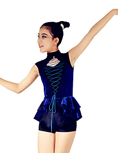 Jazz Leotards Women's / Children's Performance Spandex / Polyester Cascading Ruffle / Criss-Cross / Split Front 2 Pieces Sleeveless