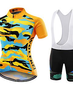 Sportovní Cyklodres a kraťasy se šlemi Dámské Krátké rukávy Jezdit na koleProdyšné Rychleschnoucí Odolné vůči prachu Nositelný Ter Emen
