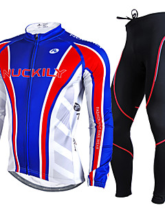 NUCKILY® Cycling Jersey with Tights Men's Long Sleeve BikeBreathable / Thermal / Warm / Ultraviolet Resistant / 3D Pad / Reflective