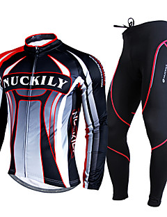 NUCKILY® Cycling Jersey with Tights Men's Long Sleeve Bike Breathable / Thermal / Warm / 3D Pad / Comfortable Clothing Sets/Suits